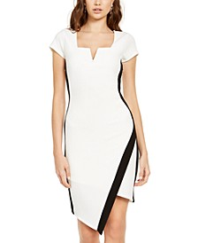 Juniors' Notch-Neck Bodycon Dress