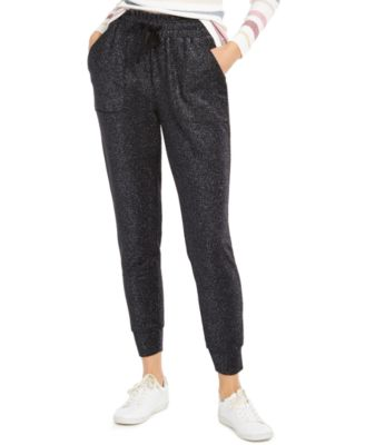 INC Sparkle Jogger Pants, Created For Macy's