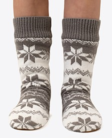 Fairisle Slipper Socks