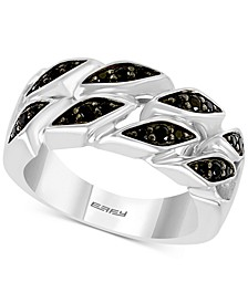 EFFY® Men's Black Spinel Ring in Sterling Silver