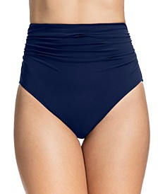 Tutti Frutti Ruched High-Waist Bikini Bottoms