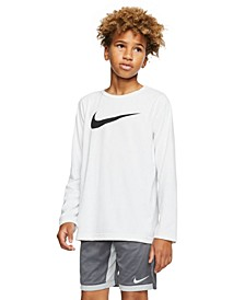 Big Boys Dri-FIT Swoosh Long-Sleeve T-Shirt
