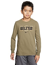 Big Boys Dri-FIT Elite Basketball Long-Sleeve T-Shirt
