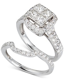 Diamond Princess Bridal Set (2 ct. t.w.) in 14k White Gold
