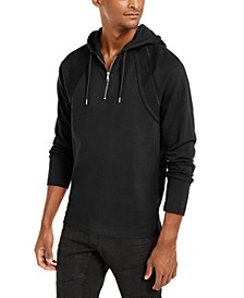 INC Men's Pieced Quarter-Zip Hoodie, Created for Macy's