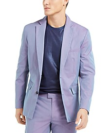 INC ONYX Men's Slim-Fit Iridescent Blazer, Created For Macy's