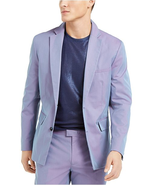 INC International Concepts INC ONYX Men's Slim-Fit Iridescent Blazer, Created For Macy's