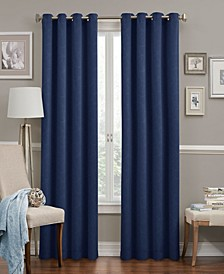 "Round and Round Thermaweave OP Blackout 52"" x 84"" Curtain Panel"