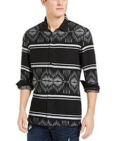 Men's David Stripe Jacquard Shirt, Created For Macy's