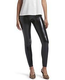 Metallic Leggings with Phone Pocket