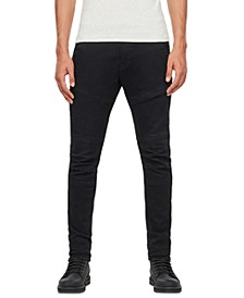Men's 3D Rackam Black Skinny Jeans, Created For Macy's
