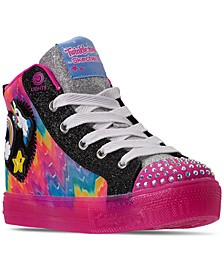 Little Girls Twinkle Toes Mix N' Patch High Top Light-Up Casual Sneakers from Finish Line