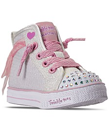 Toddler Girls Twinkle Toes Sparkle Beauty Light-Up High Top Casual Sneakers from Finish Line
