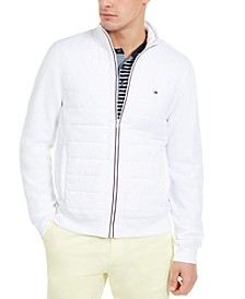 Men's David Regular-Fit Mix-Media Full-Zip Sweatshirt