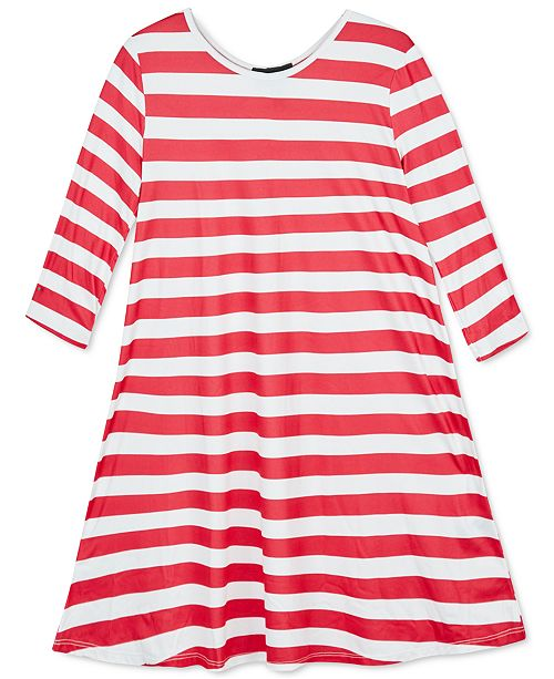 BCX Big Girls Holiday Printed Dress