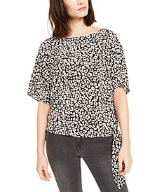 Leopard-Print Side-Tie Top