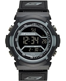 Men's Flournoy Digital Nylon Strap Watch 53mm