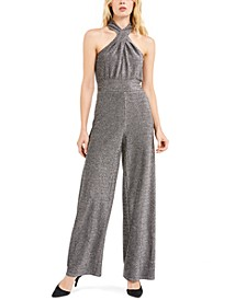 Lurex Twist Halterneck Jumpsuit, Regular & Petite Sizes
