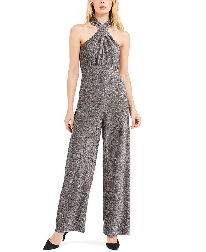 Michael Kors Lurex Twist Halterneck Jumpsuit, Regular & Petite Sizes