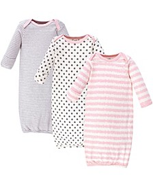 Baby Girl Organic Cotton Gown, 3-Pack