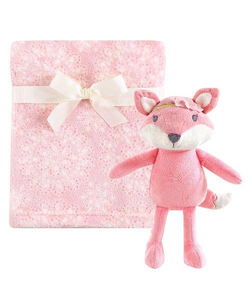 Hudson Baby Plush Blanket with Plush Toy Set