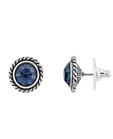 Silver-Tone Stud Earrings