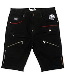 Men's Slim-Straight Fit Candyman Zipper Shorts