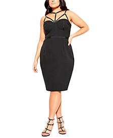 Trendy Plus Size Audacious Caged Dress