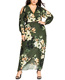 Trendy Plus Size Jasmine Belted Maxi Dress