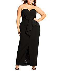 Trendy Plus Size Sweetheart Slit Maxi Dress