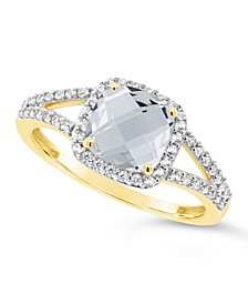 Created White Sapphire (1-3/4 ct. t.w.) and Created White Sapphire (1/4 ct. t.w.) Ring in 10k Yellow Gold