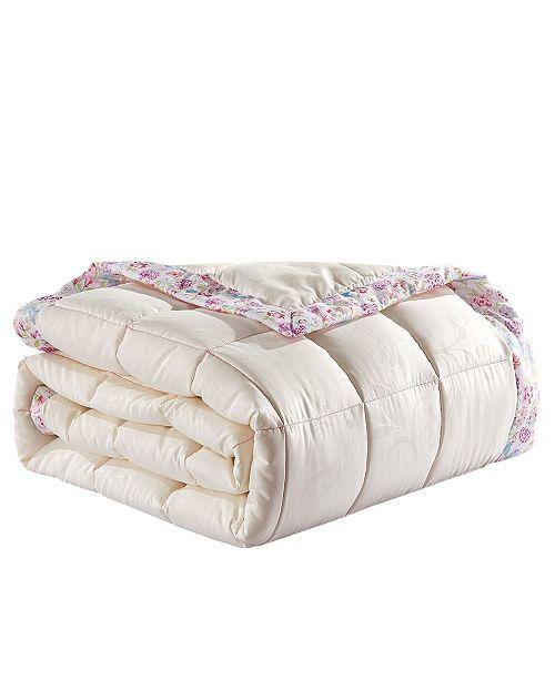 Collier Campbell Bird on Branch Design Embossed Reversible Blanket, Queen