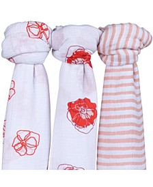 Muslin Cotton Swaddles 3 Pack