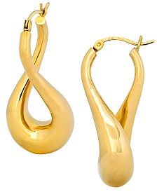 Signature Gold™ Twist Hoop Earrings in 14k Gold over Resin