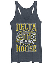 Animal House Toga Party At The Delta House Tri-Blend Racer Back Tank
