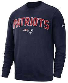 Men's New England Patriots Fleece Club Crew Sweatshirt