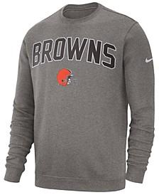 Men's Cleveland Browns Fleece Club Crew Sweatshirt