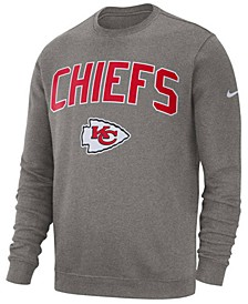 Men's Kansas City Chiefs Fleece Club Crew Sweatshirt