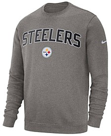 Men's Pittsburgh Steelers Fleece Club Crew Sweatshirt