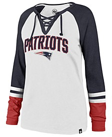 Women's New England Patriots Lace Up Long Sleeve T-Shirt