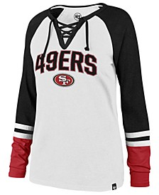 Women's San Francisco 49ers Lace Up Long Sleeve T-Shirt