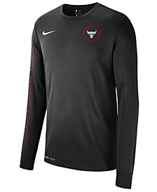 Men's Chicago Bulls Logo Dry Long Sleeve T-Shirt