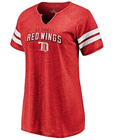 Women's Detroit Red Wings Net V-Notch T-Shirt