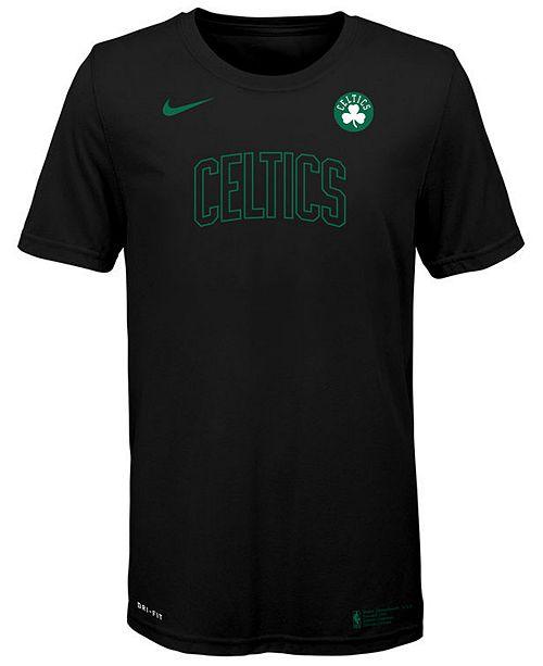 Nike Big Boys Boston Celtics Facility T-Shirt