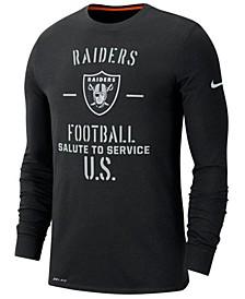 Men's Oakland Raiders Salute To Service Dri-FIT Cotton Long Sleeve T-Shirt