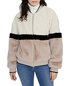 Blockparty Faux-Fur Bomber Jacket