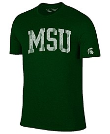Men's Michigan State Spartans Oversized Arch Dual Blend T-Shirt