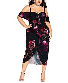 Trendy Plus Size Decadent Floral Dress