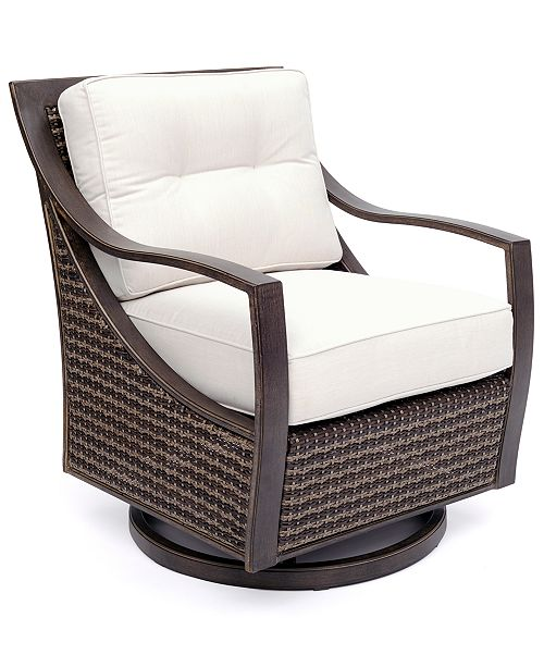 Furniture North Shore Outdoor Swivel Chair with Sunbrella® Cushion, Created For Macy's