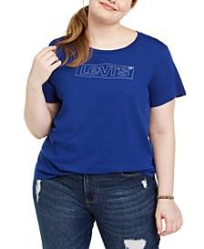 Trendy Plus Size Cotton Logo Graphic T-Shirt